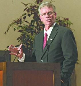 LAURA BEAN/THE ARKA TECH: Mayoral Candidate Martin Irwin