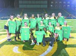 AMY FAIRBANKS/THE ARKA TECH: The Showstoppers won the women's intramural flag football championship on Oct. 16 at Thone Stadium and will advance to regionals at Oklahoma State University later this month.