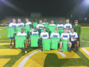 AMY FAIRBANKS/THE ARKA TECH: Team Blue won the men's intramural flag football championship on Oct. 16 at Thone Stadium and will advance to regionals later this month.