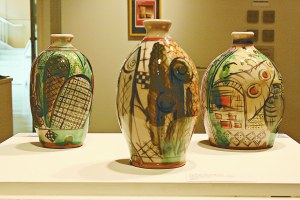 ASHLEY PEARSON/THE ARKA TECH: Aaron Calvert's ceramic work is currently on display at the Norman Art Gallery.