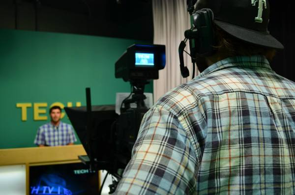 CHRISTIE WHITE/THE ARKA TECH: Journalism students have the opportunity to produce a news show at Tech TV, which is located in the Energy Center.